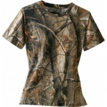 Cabela's Women's 100% Cotton Short-Sleeve Tee - Realtree Ap Hd 'Camouflage' (LARGE)
