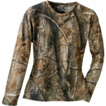 Cabela's Women's 100% Cotton Long-Sleeve Tee - Realtree Ap Hd 'Camouflage' (LARGE)