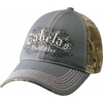 Cabela's Women's Pink Logo Camouflage Cap - Max-1 'Green' (ONE SIZE FITS MOST)