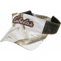 Cabela's Women's Distressed Logo Camo Visor - Realtree Ap Snow (ONE SIZE FITS MOST)