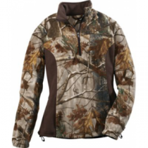A.G.O. Women's 1/4-Zip Pullover - Mossy Oak New Brk-Up (LARGE)