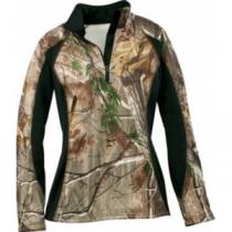 A.G.O. Women's Stretch Fleece Top - Realtree Ap Hd 'Camouflage' (XL)