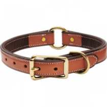 Cabela's Buffalo-Leather Dog Collars - Chocolate/Cream (17)