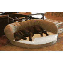 Cabela's Ortho Bolster Dog Bed - Chocolate 'Dark Brown' (SMALL)