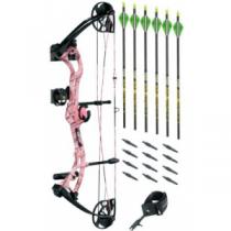 Cabela's Bear Archery Apprentice 3 RTH Pink Compound Bow Kit By