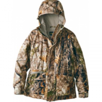Cabela's Youth Silent-Suede Parka - Zonz Woodlands 'Camouflage' (SMALL)
