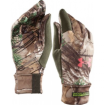 Under Armour Women's Scent-Control Liner Gloves - Realtree Xtra 'Camouflage' (XL)