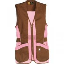 Browning Women's Sporter II Shooting Vest - Brown/Pink (2XL)