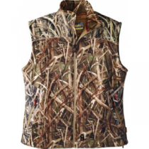 Cabela's Men's Heated Performance Camo Fleece Vest with 4MOST Windshear - Mo Shdw Grass Blades 'Camouflage' (LARGE)