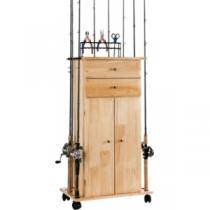 Organized Fishing Utility Box Cabinet Rack - Natural