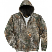 Carhartt Men's Midweight Camo Hooded Zip-Front Sweatshirt Regular - Realtree Xtra 'Camouflage' (LARGE)