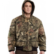 Carhartt Men's Quilted-Flannel-Lined Camo Active Jacket Regular - Mo Break-Up Infinity (SMALL)