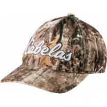 Cabela s Men s Flexfit Camo Logo 110 Cap - Zonz Woodlands  Camouflage  (ONE  SIZE fec52e564046