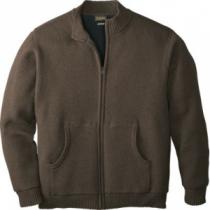 Cabela's Men's Waterfowl Full-Zip Fatigue Sweater with 4MOST Windshear - Dark Mushroom (LARGE)