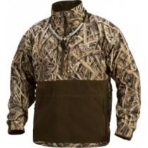 Plus Size Drake Men's MST Eqwader Plus 1/4-Zip - Mo Shdw Grass Blades 'Camouflage' (LARGE)