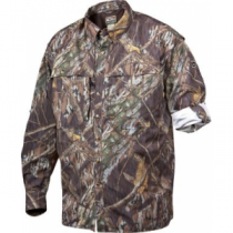 Drake Men's EST Wingshooter s Long-Sleeve Shirt - Mo Shadow Branch (SMALL)