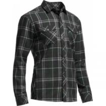 Icebreaker Men's Lodge Flannel Long-Sleeve Shirt - Hthr/Conifer (MEDIUM)