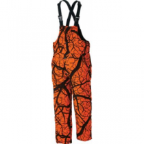 Herter's Men's Waterproof Insulated Blaze Bibs - Blaze Horizon 'Dark Orange/Black' (2XL)