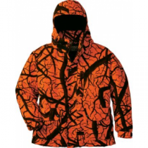 Herter's Men's Waterproof Insulated Blaze Parka - Blaze Horizon 'Dark Orange/Black' (MEDIUM)