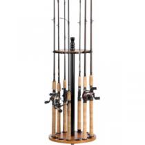 Organized Fishing 15-Rod Round Rack - Oak 'Brown'