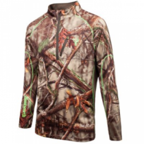 Huntworth Men's Call of the Wild 1/4-Zip Pullover - Oak Tree Evo (LARGE)