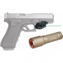Crimson Trace Rail Master Green Laser with Free LED Lenser T7.2 Flashlight Combo (FLASHLIGHT COMBO RMS)